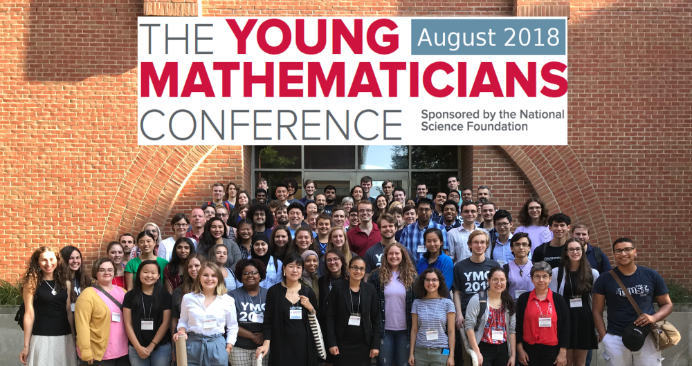 Young Mathematicians Conference 2018 group photo